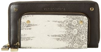 Vince Camuto Fiona Checkbook Holder (Ivory/Caviar) - Bags and Luggage