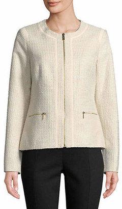 Karl Lagerfeld PARIS Full-Zip Crew Neck Jacket