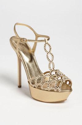 Sergio Rossi Crystal Platform Sandal