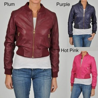 Knoles & Carter Women's Perforated Bomber Jacket $54.99 thestylecure.com