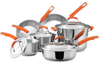 Rachael Ray Stainless Steel 10-Piece Cookware Set and Open Stock