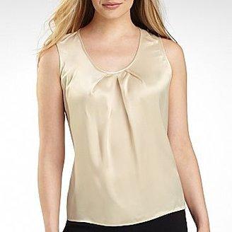 JCPenney Nine & Co.® Fashion Pleat-Neck Blouse