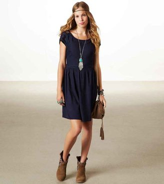 American Eagle AE Lace Panel Dress