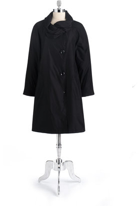 Portrait Petites Pleated Collar Trench Coat