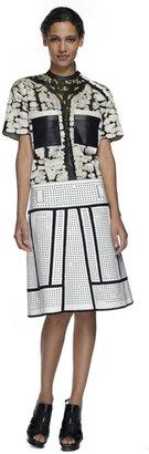 Proenza Schouler White A-Line Crochet Skirt