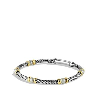 David Yurman Cable Kids Pearl Bracelet