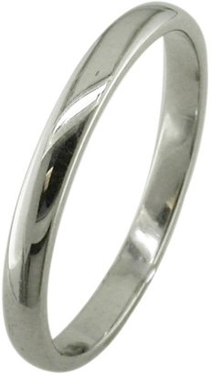 E.W Adams 18ct White Gold 2.5mm Court Wedding Ring