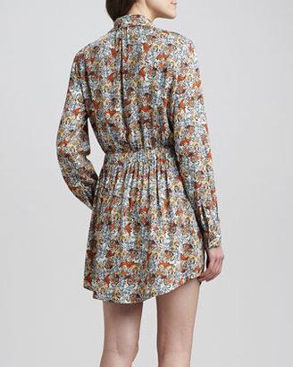 Paul & Joe Sister Lana Tiger-Print Shirtdress