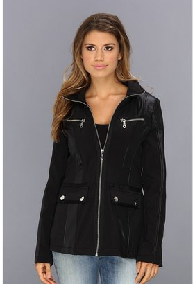 DKNY Short Zip Front Soft Shell $95 thestylecure.com
