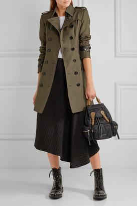 Burberry Queensborough Mid-length Cotton-gabardine Trench Coat - Dark green