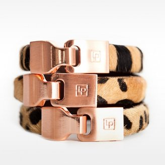 Linea Pelle Leather Bangle with Hook Closure Bracelet