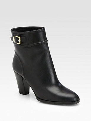 Ralph Lauren Meranda Leather Ankle Boots