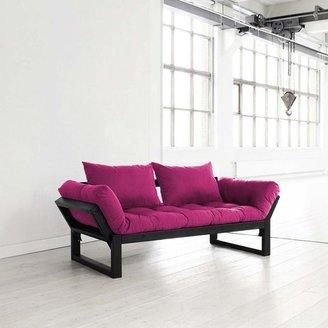 Fresh Futon Edge Pink With Black Frame