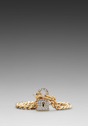 Juicy Couture Totally Secure Couture Pave Padlock Bracelet