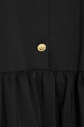 Versus Ruffled crepe dress