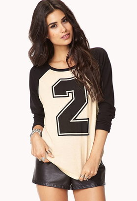 Forever 21 Athletic Baseball Sweatshirt