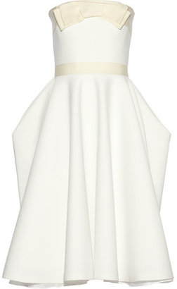 Lanvin - Grosgrain-trimmed Piqué Dress - White $5,845 thestylecure.com