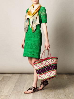 Sensi Studio Maxi tribal woven straw bag