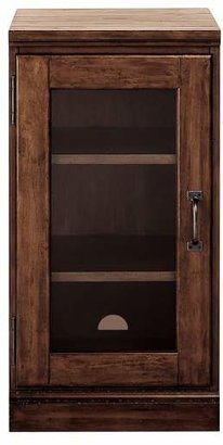 Pottery Barn Printer's Single Glass Door Cabinet, Tuscan Chestnut