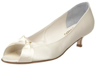 Butter Shoes Bridal by Women's Crackle-B Kitten-Heel Pump