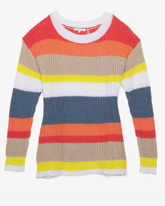Minnie Rose Crew Neck Stripe Sweater