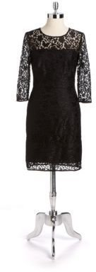 Kay Unger Lace Illusion Sheath Dress