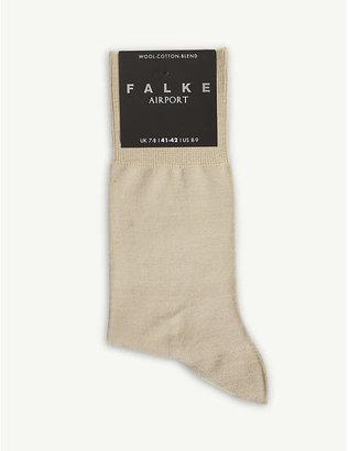 Falke Mens Sapphire Blue Airport Knitted Socks