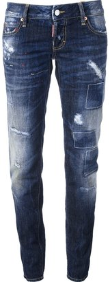 DSquared DSQUARED2 distressed skinny jean