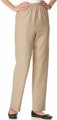 Alfred Dunner Pull-On Straight-Leg Pants $24.98 thestylecure.com