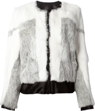 Helmut Lang bi-colour fur jacket