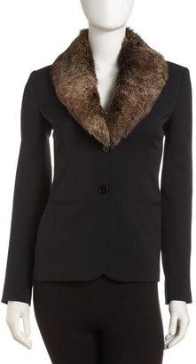 Theory Kiersten Chateau Fur Stole Jacket