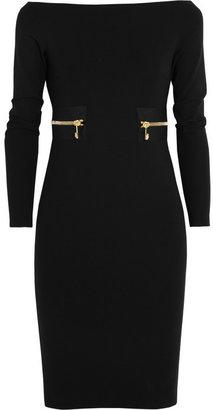 Versace Zipped stretch-crepe jersey dress