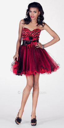 Punk Zebra Short Prom Dress by Alyce Paris