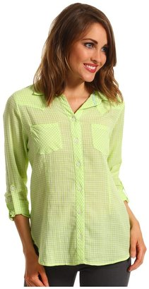 Vince Camuto TWO by Slim Western Shirt (Bright Aloe) - Apparel