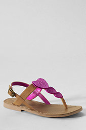 Lands' End Girls Phoebe Glitter Heart Sandals-Starry Night