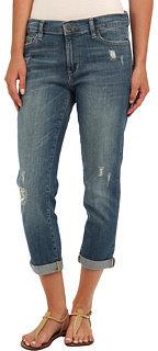 Calvin Klein Jeans Destructed Boyfriend Jean in Medium Blue Fade