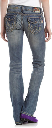 MEK Slim Boot-Cut Jeans, Medium Blue