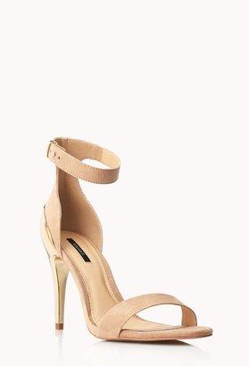 Forever 21 Metal Heel Sandals
