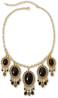 JCPenney Aris by Treska Gold-Tone & Black Bead Statement Necklace