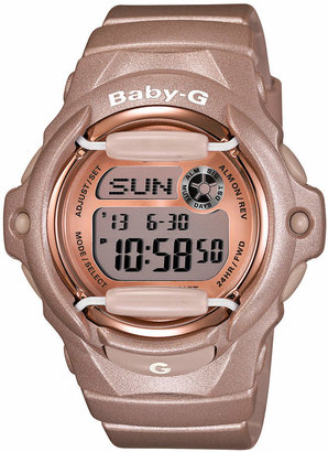 Baby-G Women's Digital Beige Resin Strap Watch 43x46mm BG169G-4