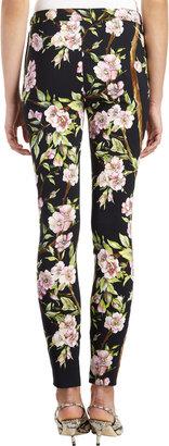 Dolce & Gabbana Rose-print Ankle Zip Legging