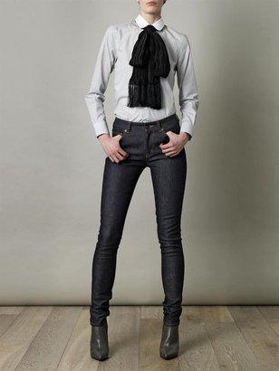 Saint Laurent Peter-pan collar stripe shirt