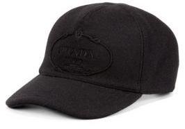 Prada Wool Logo Baseball Cap