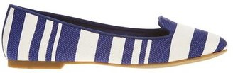 Ann Taylor Hadley Striped Canvas Loafers