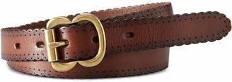 Fossil Leather Scallop Jean Belt