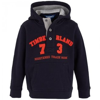Timberland Kids Navy Hooded Sweatshirt