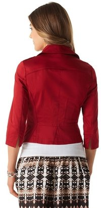 White House Black Market Auburn Cotton Sateen Jacket