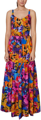Laundry by Shelli Segal Tiered Maxi Dress