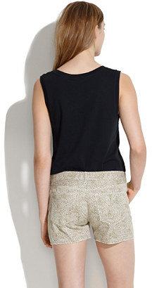 Madewell Denim Cutoff Shorts in Safari Dot