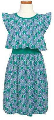 Tea Collection 'Peacock' Print Dress (Toddler Girls)